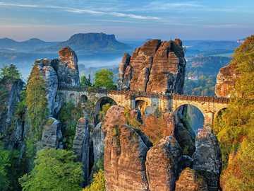 Bastion Bridge - Saxon Switzerland National Park, Elbe Mountains
