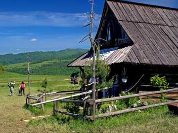 old cottage - shepherd's hut in the mountains ----