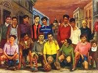 Екипът - Масло от Антонио Берни