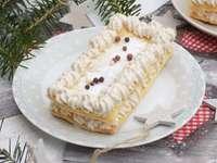 Kuchen mit Creme - Halbfranzösische Kekse mit Lebkuchencreme