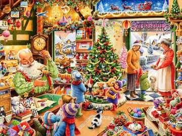 Santa Claus in toy store - Santa Claus in toy store
