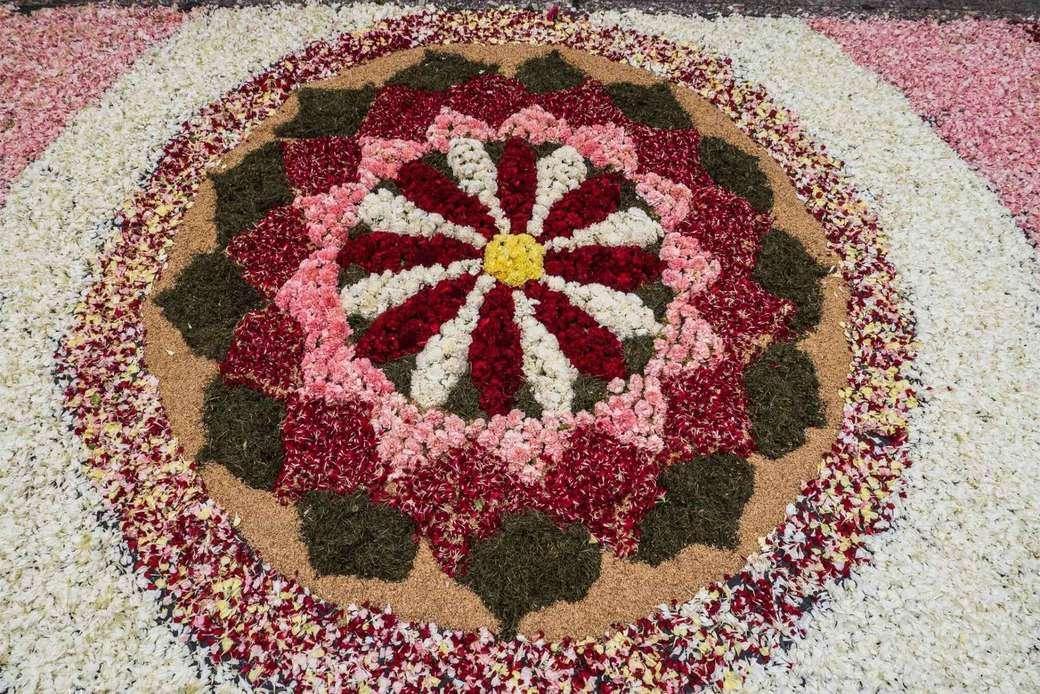 Bloementapijt - Corpus Christi in Sitges en bloementapijten (4×3)