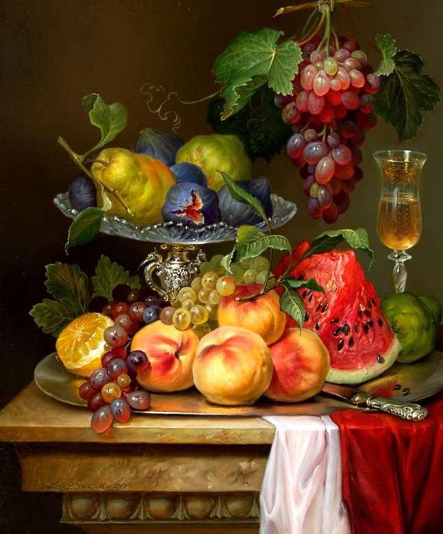 natureza morta com frutas