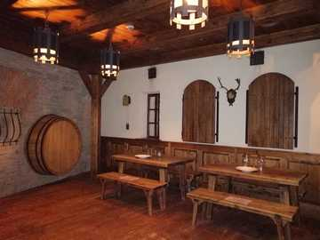 Żywiec Brewery Museum - The reconstructed interior of a city inn in Galicia