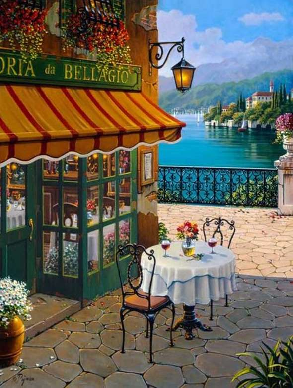 Moment en bord de mer - Illustration-Peinture-Peinture-Paysage-Art (11×15)