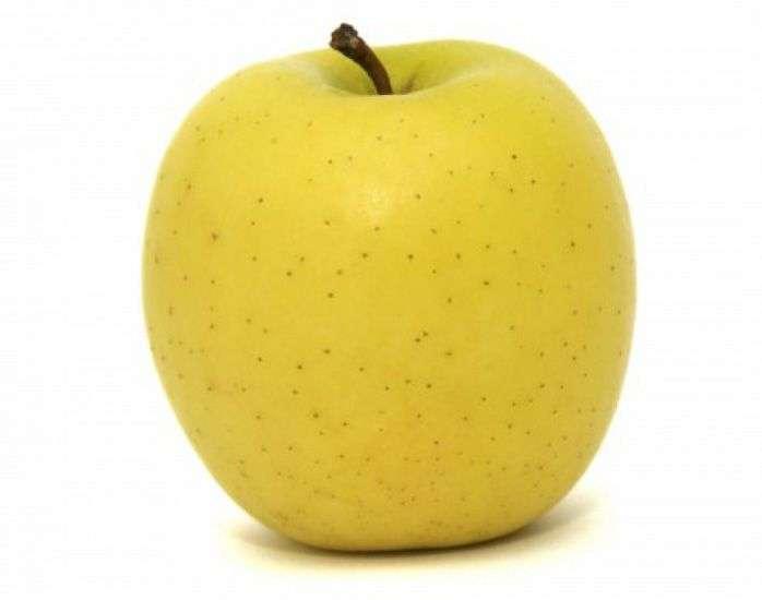 Een gele appel - Het meest vitamine fruit (3×2)