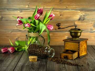 Coffee and flowers - Who doesn't like to drink coffee?