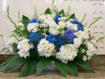 Blumenstrauß. - Hochzeitsblumendekoration.