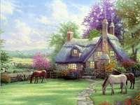 Casa - Cavalos - Natureza. - Casa - Cavalos - Natureza.