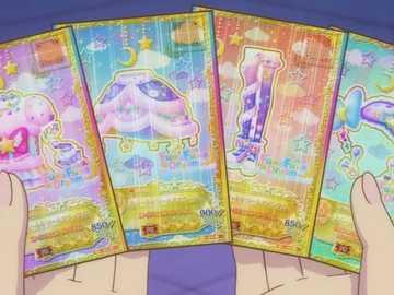 偶像 活動 卡 -Sweet Dreams Coord - 來自 Pop 品牌 FuwaFuwa Dream 的 ik ik ik ik ik Aikatsu 系統 認證 , 獲得 水星 之 翼