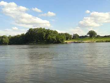 Vistula river - The flowing Vistula River.