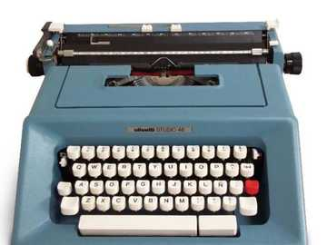 typewriter - typewriter that was used before. that the computer existed