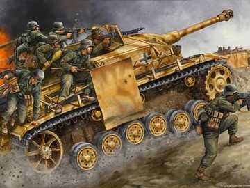 war tank - this puzzle is from the second world war en1096