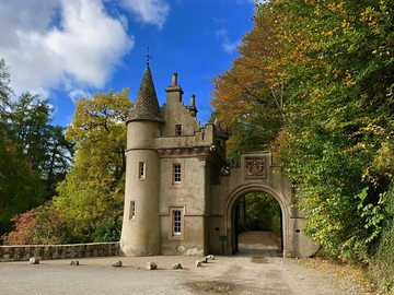 entrance to the castle - entrance gate - tower