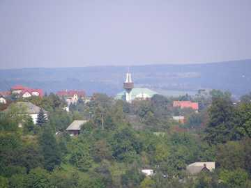 View - In Małopolska in summer, a panorama