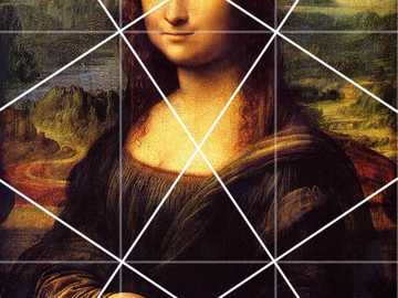 Mona Lisa - Renaissance image with visual rhythmic sequence