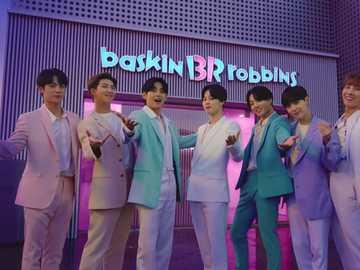 BTS x Baskin Robbins - BTS in collaboration with Baskin Robbins