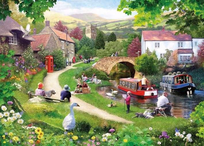 Ancienne province anglaise - Puzzle de paysage (12×9)