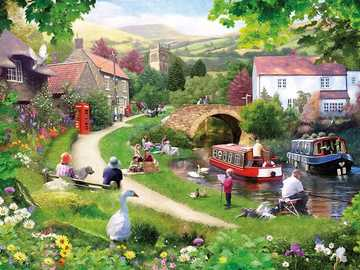 Former English province. - Landscape puzzle.