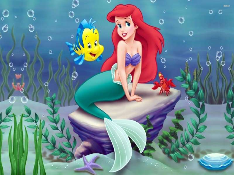 "PEQUENA SEREIA: ARIEL - Pequena Sereia. A Pequena Sereia: Ariel na água. ""Amizade é a capacidade de ouvir com a alma."" (4×3)"