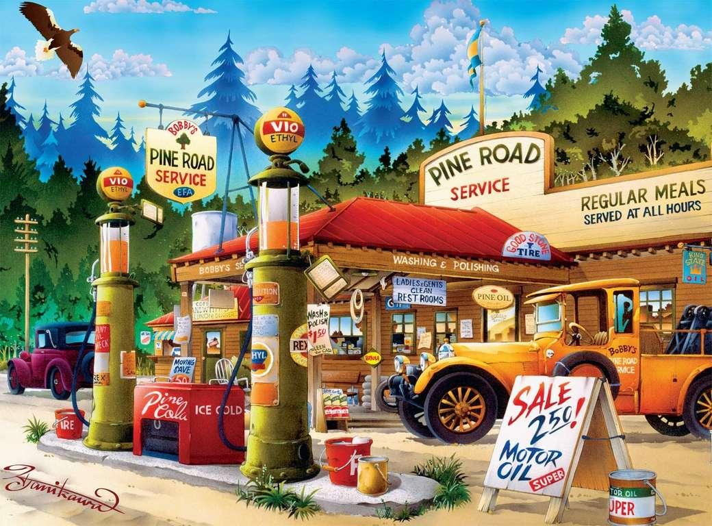 Tankstelle - Tankstelle, Autos, Brennstoff, Verkauf