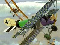 Gevechtsvliegtuigen - Vliegtuigen vechten in de lucht
