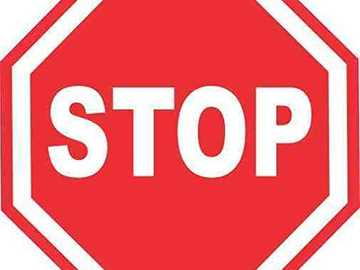 stop signal - put together the puzzle of this road sign. When you finish, try to remember the name of the sign in