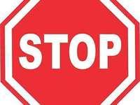 semnal de oprire - pune împreună puzzle-ul acestui semn rutier. Când terminați, încercați să vă amintiți numel