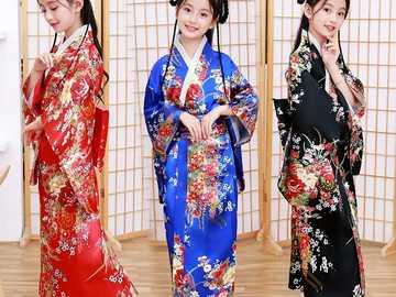 Pretty kimonos - Three beautiful kimonos