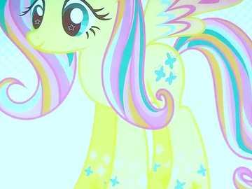 Rainbow Fluttershy :-) - Tęczowa Fluttershy :-D