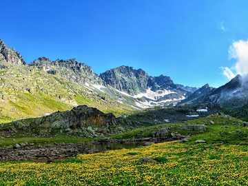 Panorama - mountain landscape ---