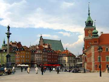 Old Town of Warsaw - Warsaw Old Town - the Royal Castle