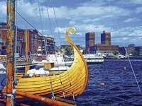 Město Oslo. - Budovy města Oslo.