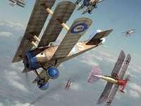 WO1-vliegtuig - WO1-vliegtuig in gevecht