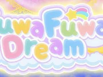 Logo FuwaFuwa Dream - Pop斯 : 花園 綺羅 、 早 乙 女 亞 子。