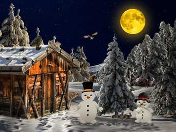 WINTER FROM A Fairy Tale. - Landscape puzzle.