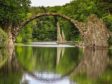 Stone bridge over the lake - Stone bridge over the lake