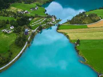 Oldevatnet See in Norwegen. - Die Aussicht ist atemberaubend