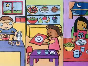 Unit 4- Food - In this activity, the children must assemble the puzzle and review the foods they learned in English