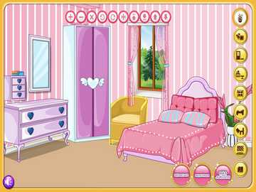 The bedroom of the princess - It has a bed, it's a game