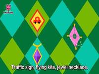 t is for traffic sign kite necklace