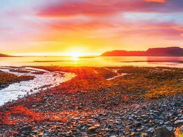 Krajobras - Piękny zachód słońca