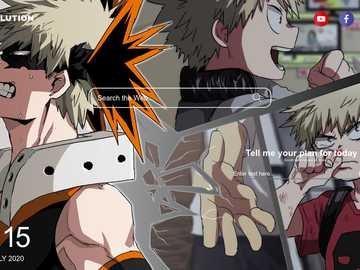 Katsuki Bakugou - He is one of the main characters after Izuku
