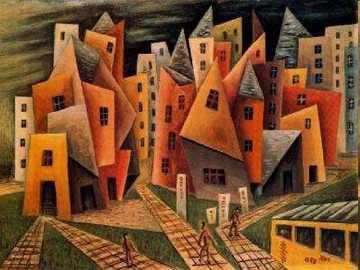 Quartier (1953) - Oeuvre de l'artiste argentin Xul Solar.