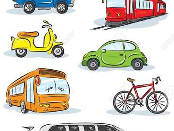 What kind of transport is this? -one - Ss tell what these vehicles have in common