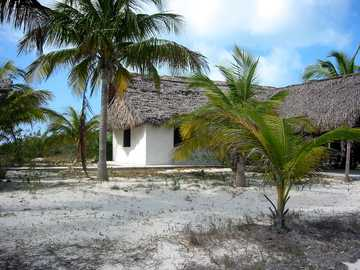 Taucherstation - einsame Taucherstation, Cayo Largo, Kuba