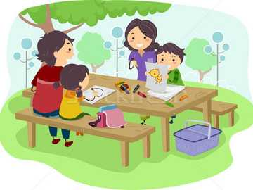 La mia famiglia - Nel parco con la mia famiglia