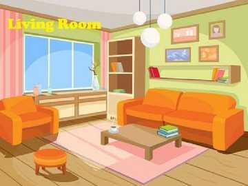 Salon - Części domu: W tej przestrzeni możesz dzielić się z rodziną i odpoczywać.