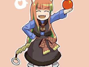 behold APPLE! - chibi Holo from spice and wolf