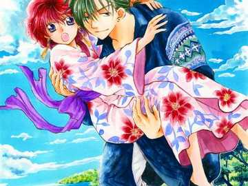 Soaring with you - Jeaha carrying Yona through the sky. from yona of the dawn